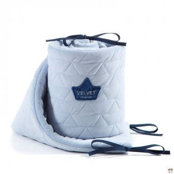 La Millou VELVET COLLECTION - BED BUMPER 70x140cm - POWDER BLUE