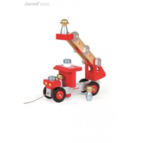 Fire truck to make a large wooden, Janod