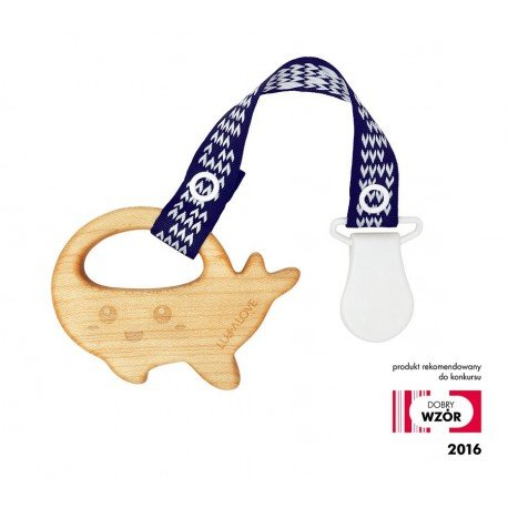 LULLALOVE Mamari TEETHING MAPLE WOOD WHALE