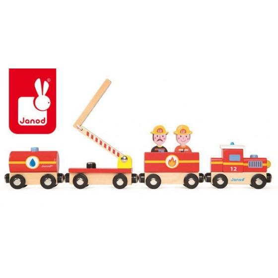 JANOD Straż pożarna pociąg drewniany