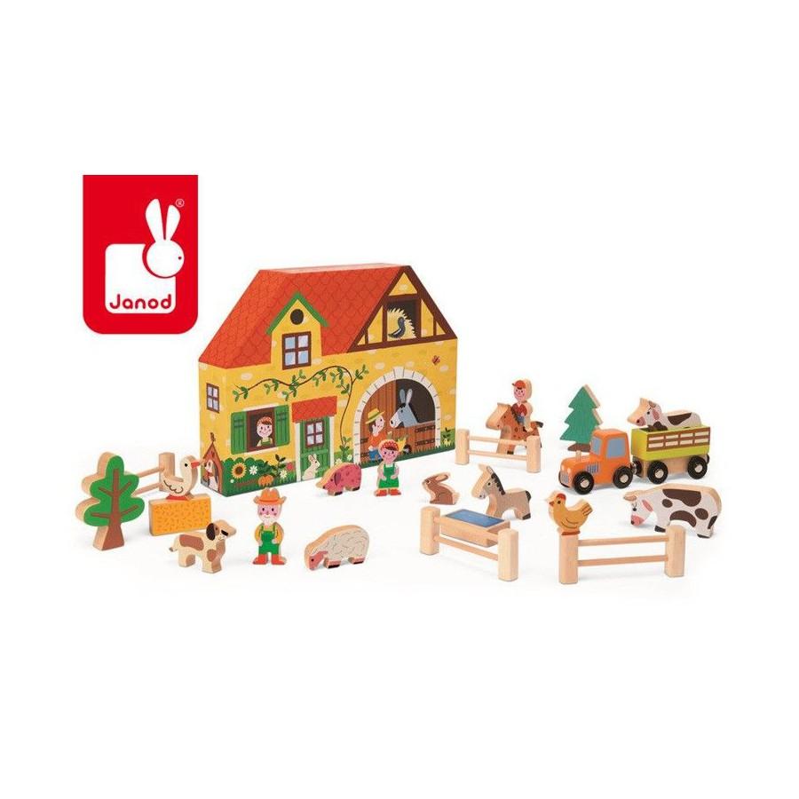 Farma zestaw drewniany Story Box, Janod