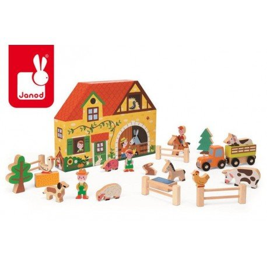 JANOD farm set of wooden Story Box