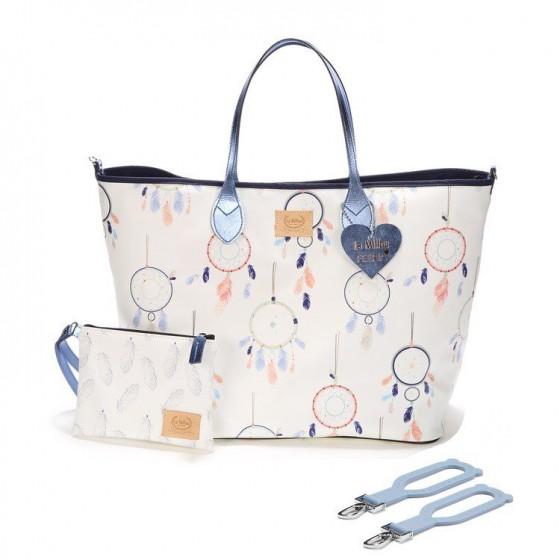 BY KATARZYNA ZIELIŃSKA LA MILLOU FEERIA - LARGE BAG WITH A CLUTH - DREAM CATCHER WHITE - PREMIUM