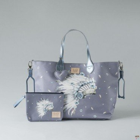 LA MILLOU FEERIA BY KATARZYNA ZIELIŃSKA LARGE BAG WITH A CLUTH NAVAHO SKY PREMIUM