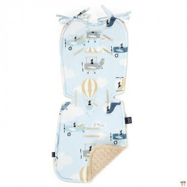 LA MILLOU STROLLER PAD CAPTAIN ADVENTURE LATTE