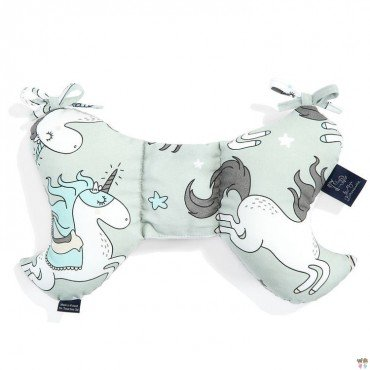 LA MILLOU ANTI-SHAKE PILLOW ANGEL'S WINGS BY MAJA BOHOSIEWICZ UNICORN RAINBOW KNIGHT DARK GREY