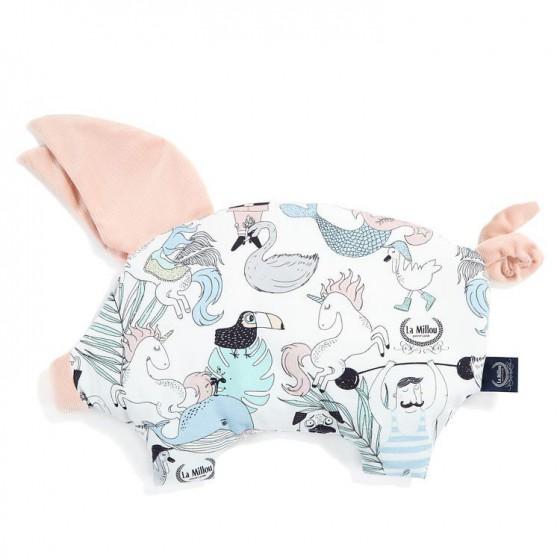 LA MILLOU PODUSIA SLEEPY PIG VELVET COLLECTION LA MILLOU FAMILY VOL.II POWDER PINK