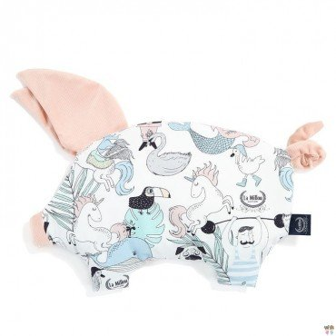 LA MILLOU SLEEPY PIG PILLOW MISS CLOUDY GREY
