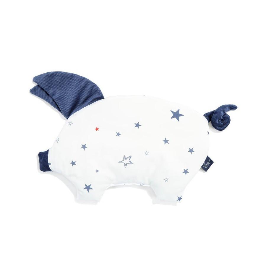 LA Millou VELVET COLLECTION pillow SLEEPY PIG GALAXY STAR