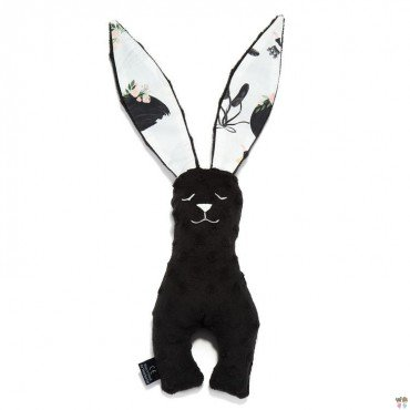 LA MILLOU TOY BUNNY 23cm BLACK MOONLIGHT SWAN