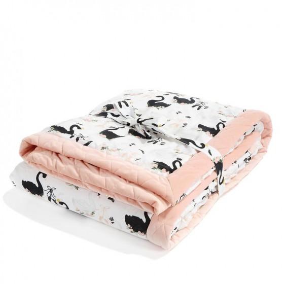 LA Millou KOC, bedspread 140x200cm MOONLIGHT SWAN POWDER PINK