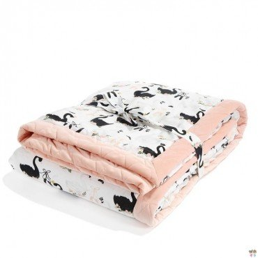 LA MILLOU ADULT BLANKET 140x200cm MOONLIGHT SWAN POWDER PINK VELVET COLLECTION