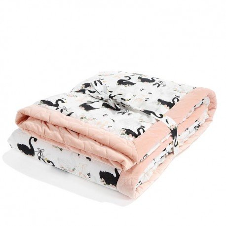 LA MILLOU ADULT BLANKET 140x200cm MOONLIGHT SWAN POWDER PINK