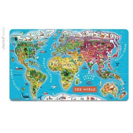 Magnetic puzzle map of the world, Janod