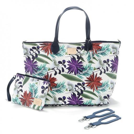 La Millou FEERIA - LARGE BAG WITH A CLUTH - BOTANIC GARDEN BRIGHT - PREMIUM