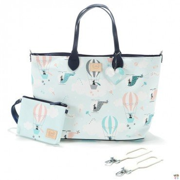 LA MILLOU FEERIA BY KATARZYNA ZIELIŃSKA LARGE BAG WITH A CLUTH MOONLIGHT SWAN PREMIUM