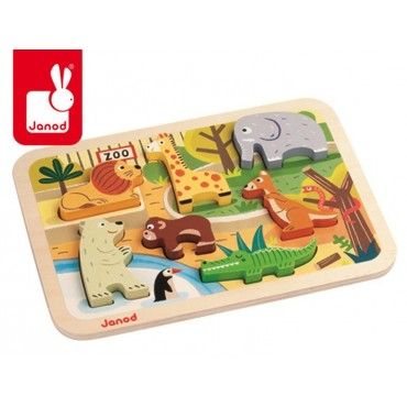 Wooden 3D Puzzle Zoo Janod