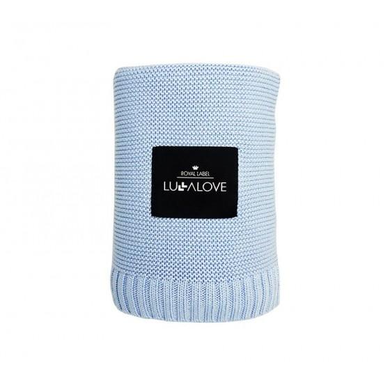 LULLALOVE KOC woven 100x120cm BAMBOO BABY BLUE