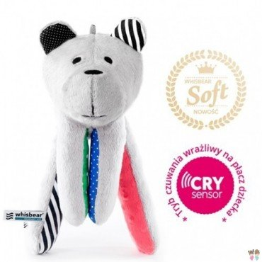WHISBEAR humming SOFT BEAR WITH WATERMELON CRYSENSOR