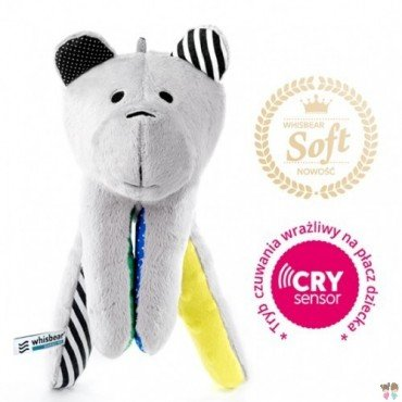 WHISBEAR humming SOFT BEAR WITH LEMON CRYSENSOR