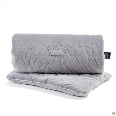 LA MILLOU VELVET COLLECTION SET KOCYK ŚREDNIAKA I PODUSIA MID PILLOW DARK GREY I GREY