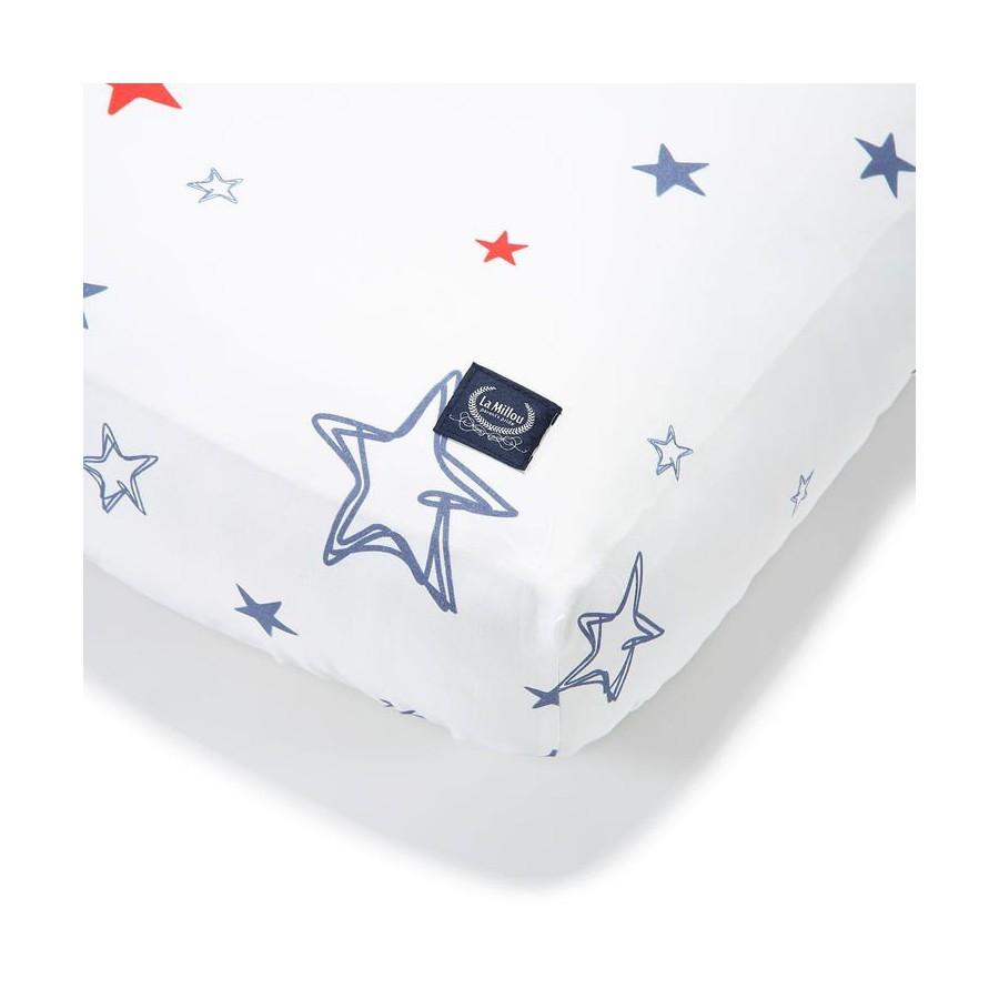 LA MILLOU BEDSHEET GOOD NIGHT 60x120 cm GALAXY STAR BRIGHT