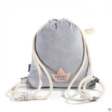 LA Millou BACKPACK DOUBLE PACK DARK GRAY SUGAR UNICORN BEBE BY MAY Bohosiewicz VELVET COLLECTION