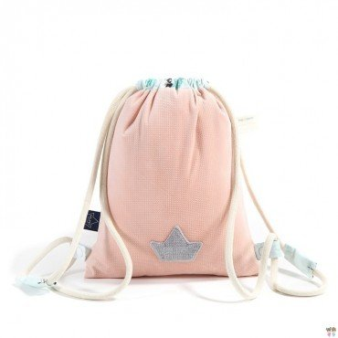 LA Millou BACKPACK DOUBLE PACK POWDER PINK MISS CLOUDY VELVET COLLECTION