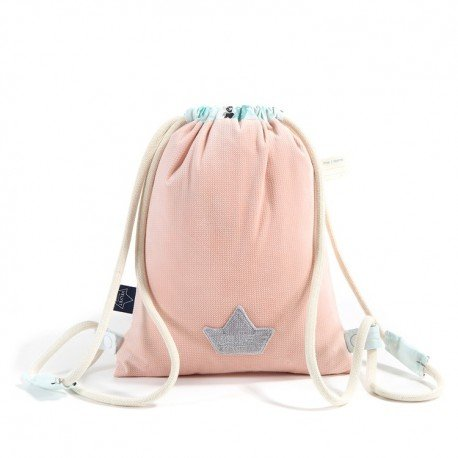 LA Millou BACKPACK DOUBLE PACK POWDER PINK MISS CLOUDY VELVET