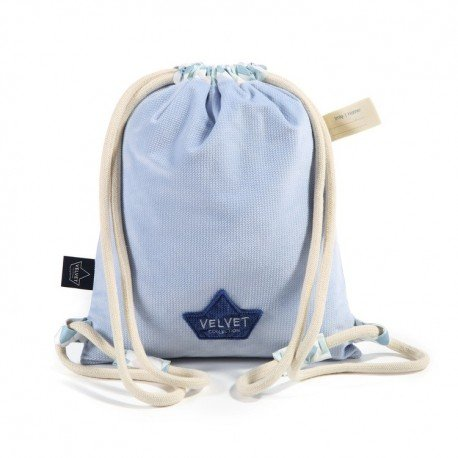 LA Millou BACKPACK DOUBLE PACK LA POWDER BLUE VELVET CHESSBOARD