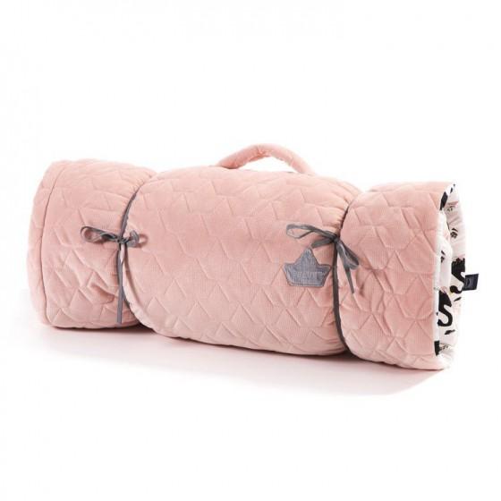 LA Millou NAP MAT CANDY POWDER PINK MOONLIGHT SWAN VELVET COLLECTION
