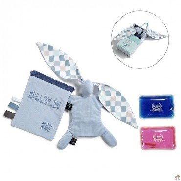 LA MILLOU THERMO BUNNY - DUSTY BLUE - LA MILLOU FAMILY CHESSBOARD