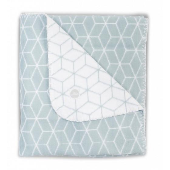 JOLLEIN warm blanket COTTON 100x150 cm GRAPHIC COLD GREEN