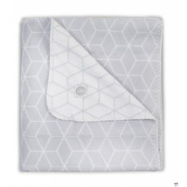 JOLLEIN WARM BLANKET 100x150cm GRAPHIC COTTON GRAY