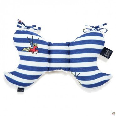 LA MILLOU PODUSZKA ANGEL'S WINGS BARBER SAILOR STRIPS ECRU