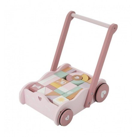 TROLLEY WITH LITTLE DUTCH blocks Roses