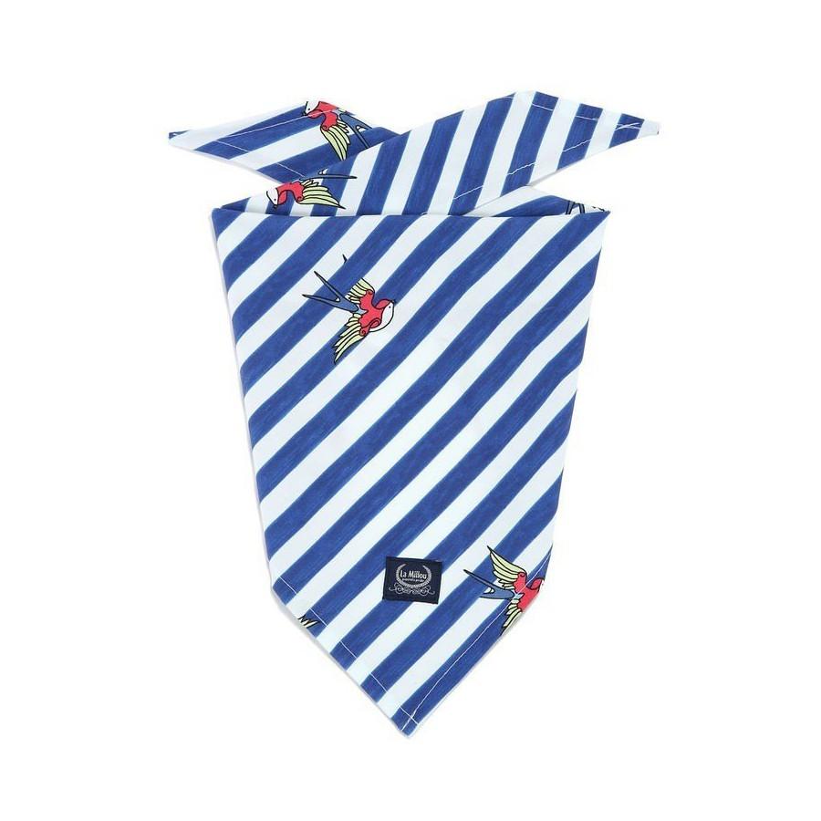 LA Millou TRIANGULAR handkerchief BARBER SAILOR STRIPS