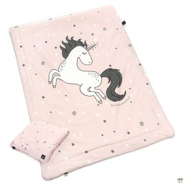 "La Millou BY MAJA BOHOSIEWICZ - BEDDING WITH FILLING JUNIOR ""M"" - ONE UNICORN SUGAR BEBE - UNICORN SUGAR BEBE STAR"