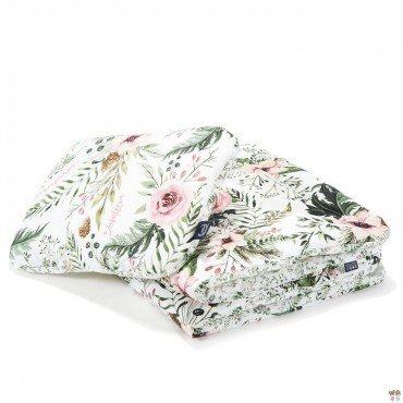 "La Millou BEDDING WITH FILLING TODDLER ""L"" - WILD BLOSSOM & FOREST BLOSSOM"