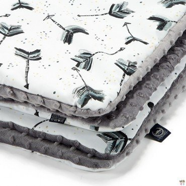 LA Millou blanket Kilkenny BOHO ROYAL GRAY ARROWS