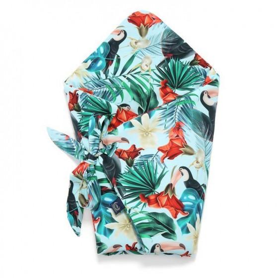 LA MILLOU ROŻEK BABY HORN BLUE HAWAIIAN BIRDS