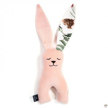 La Millou VELVET COLLECTION - TOY BUNNY - POWDER PINK - WILD BLOSSOM
