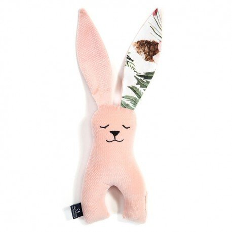 LA Millou RABBIT TOY VELVET COLLECTION POWDER PINK WILD BLOSSOM