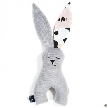 LA Millou RABBIT TOY COLLECTION DARK GRAY VELVET PINK BY ILOVEPANDA Marta Zmuda