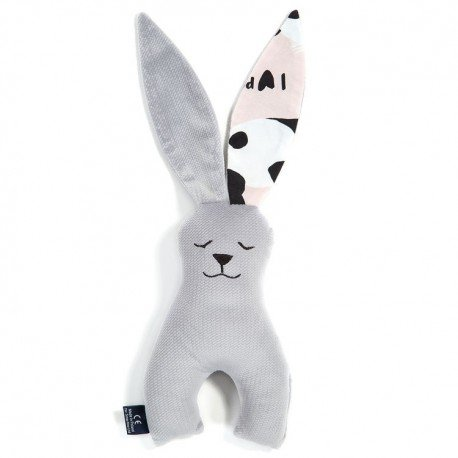 LA Millou RABBIT TOY COLLECTION DARK GRAY VELVET PINK BY