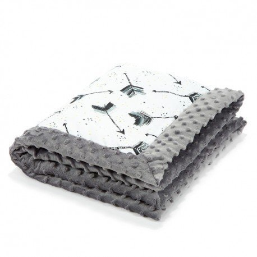 LA baby blanket Millou BOHO ROYAL GRAY ARROWS