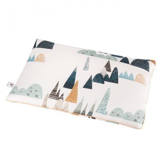 Samiboo - Bambusowa poduszka góry 40x60 cm musztardowa wypustka