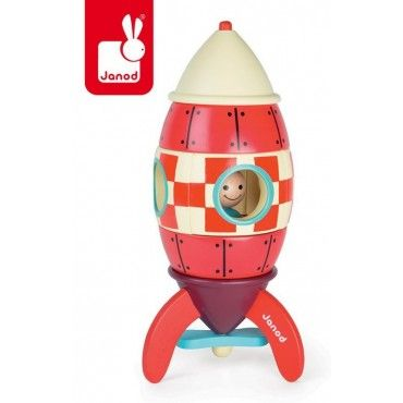 JANOD rocket wooden magnetic XXL