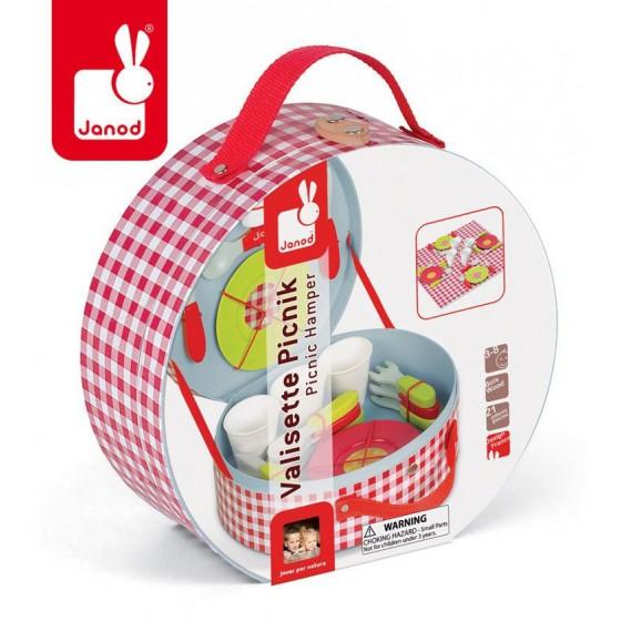 JANOD Zestaw piknikowy w walizeczce z 21 akcesoriami