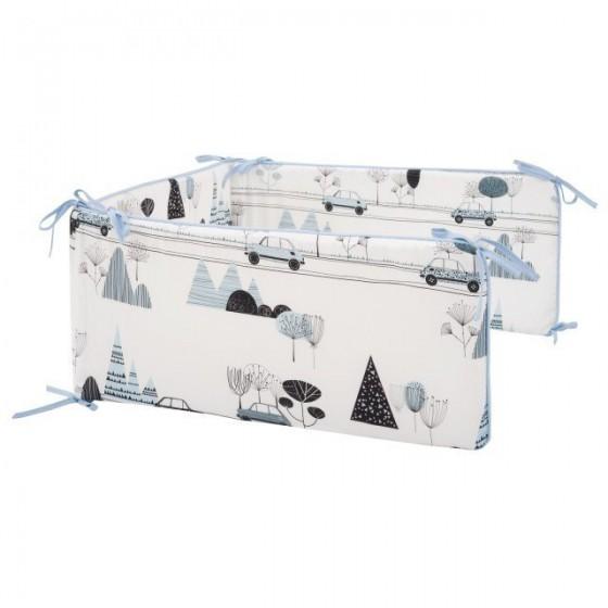 Samiboo - Ochraniacz do łóżeczka 120/60 bambino maluszek z wyjmowanym wkładem